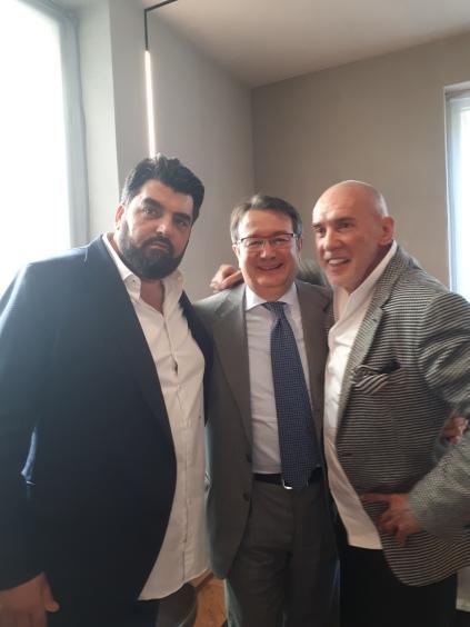 Da sx verso dx Antonino Cannavacciuolo, Carlo Robiglio e Diego Dalla Palma